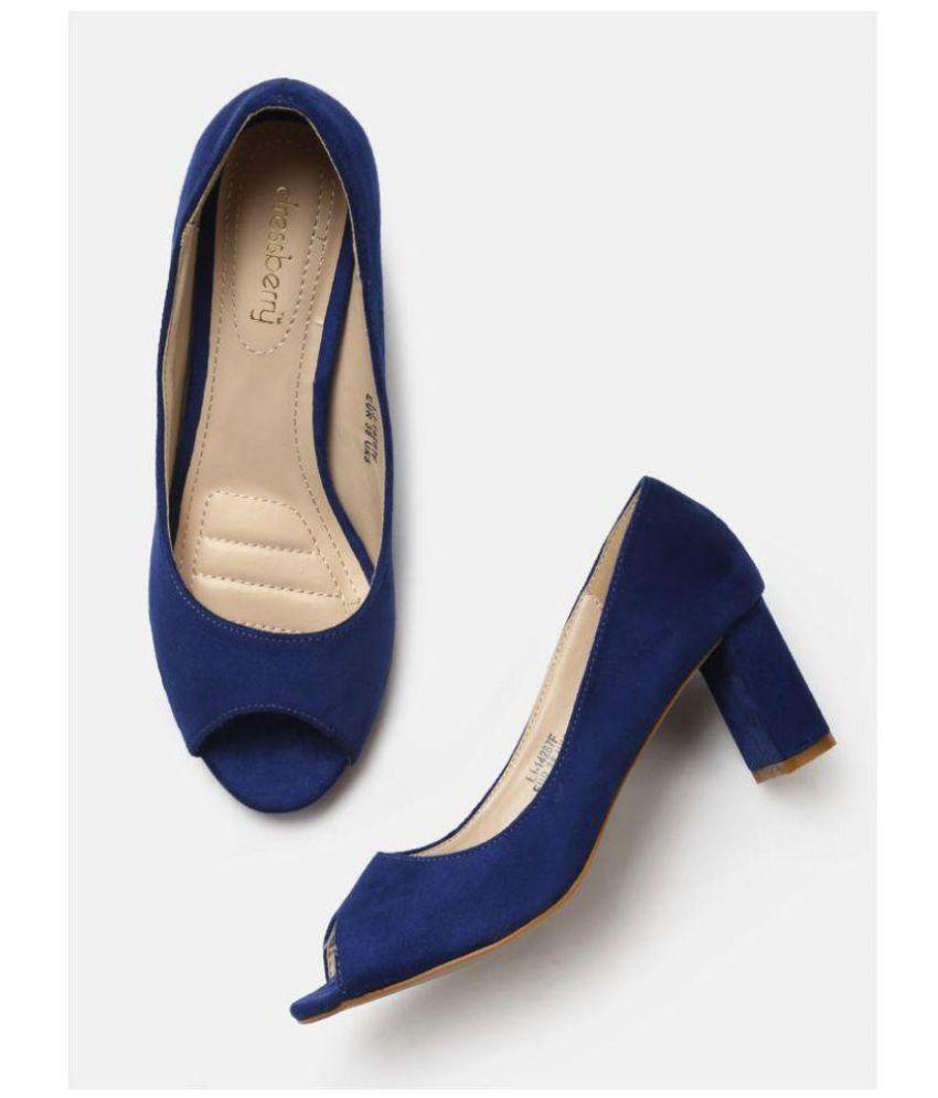 9b3d737faa34 Dress Berry Blue Block Heels Price in India- Buy Dress Berry Blue ...