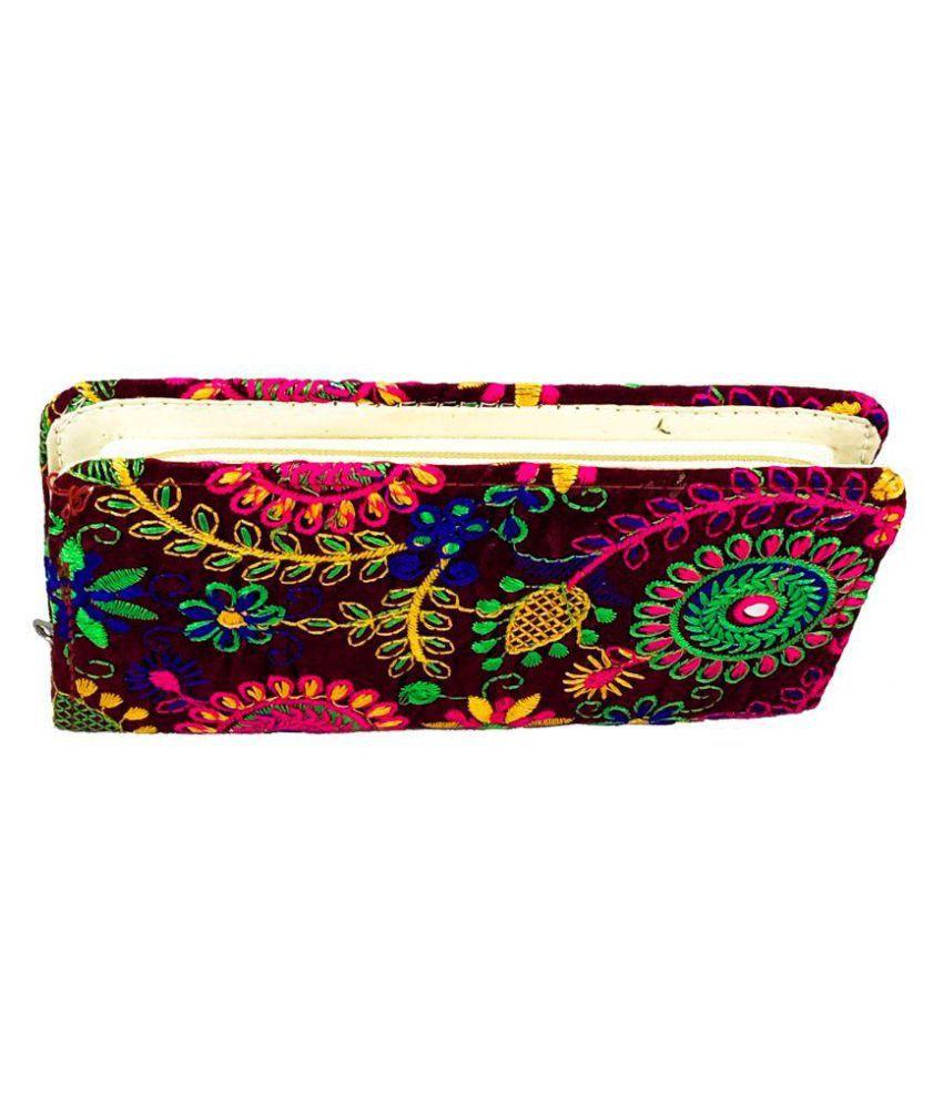 KABIR BAMBHAARI Maroon Fabric Handheld