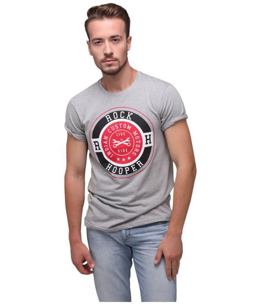 Rock Hooper Grey Half Sleeve T-Shirt