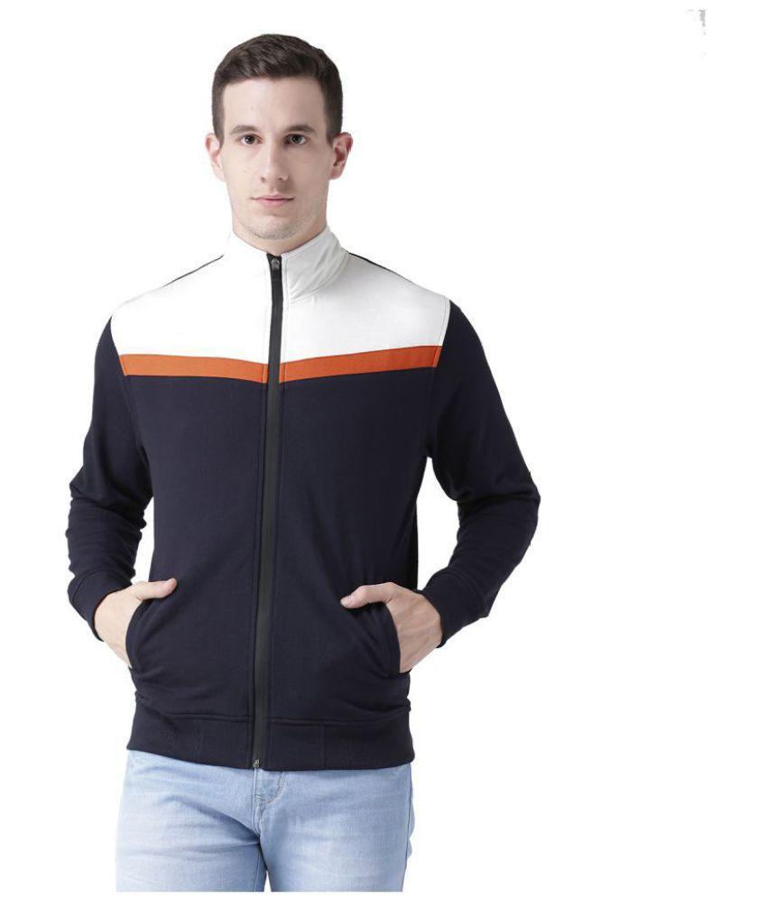Club York Navy High Neck Sweatshirt
