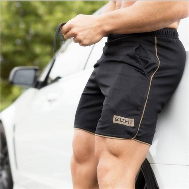 2017 Men's Athletic Gym Joggers Cotton Shorts Fitness Jogging Fit Shorts Casual Sport Singlet Leggings
