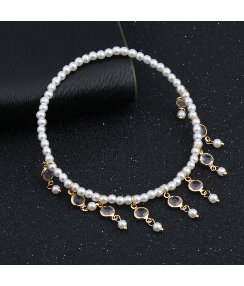 2018 New Sweet Pearl Water Drop Elastic Foot Bracelet Coin Bell Bracelet Beachfront Beach Jewelry For Hai