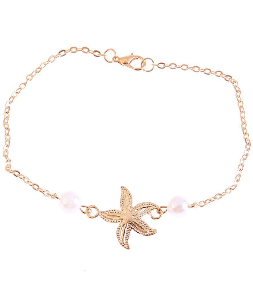 Beach Beaches D Fringed Starfish Pearl  Anklet Yoga Accessories Accessories