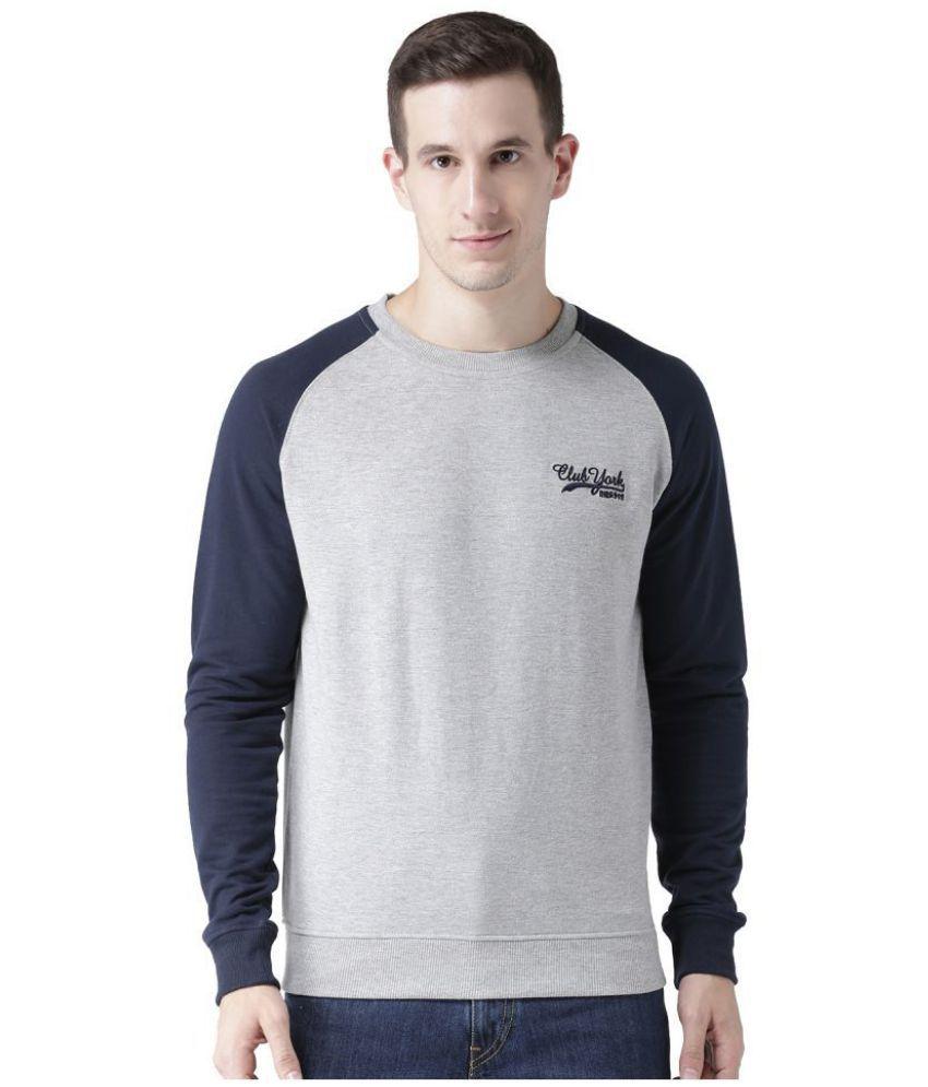 Club York Grey Round Sweatshirt