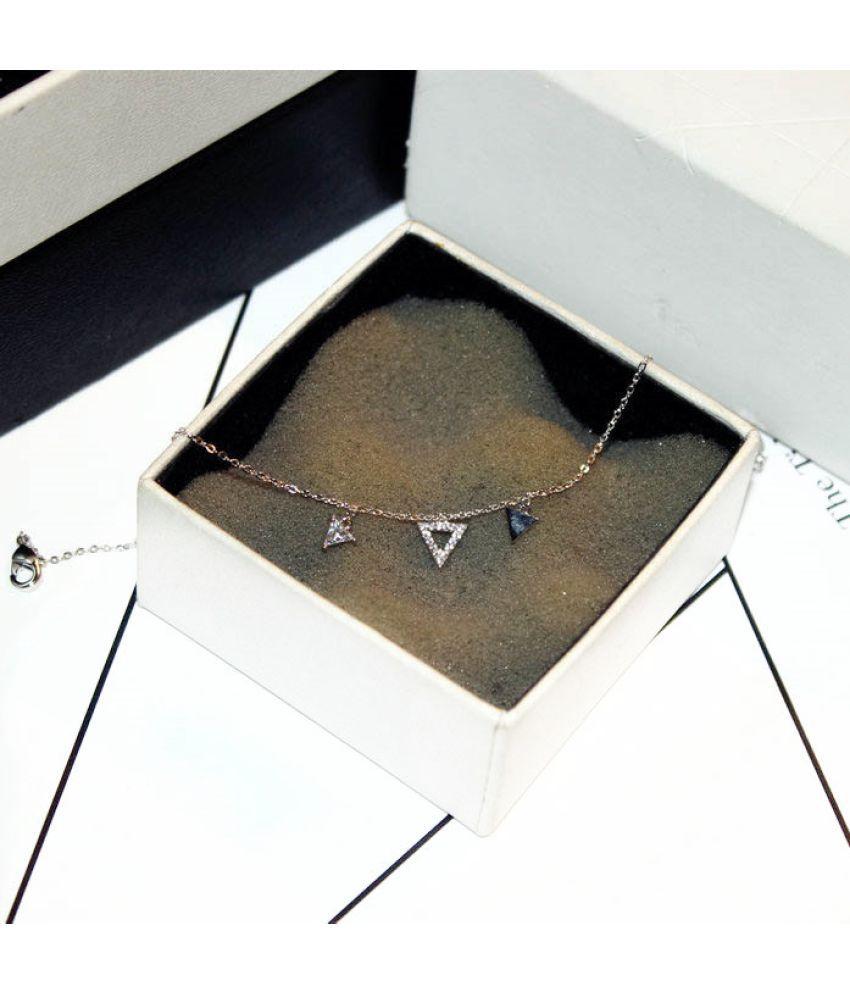 New Fashion Version  Trend Exquisite Super Flash Zircon Drill Temperament Anklet Bracelet Bracelet Female S00217