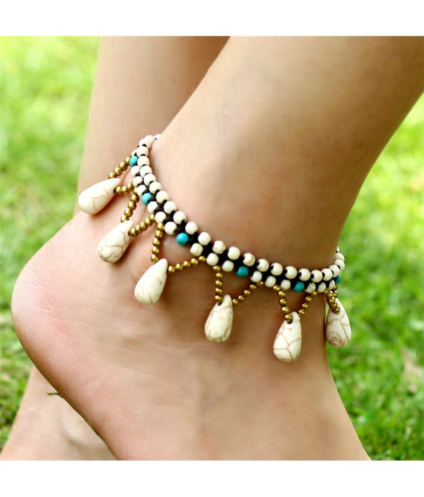 New Pop National Style Fashion  Fast Women'S Beach Anklet Dmade Jewelry Starfish Foot Accessories