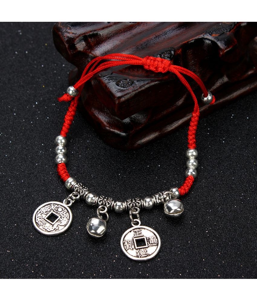 Original National Wind Small Adorn Article Jewelry Benmingnian Sewing Line D-Woven Diy Red Bead Chains