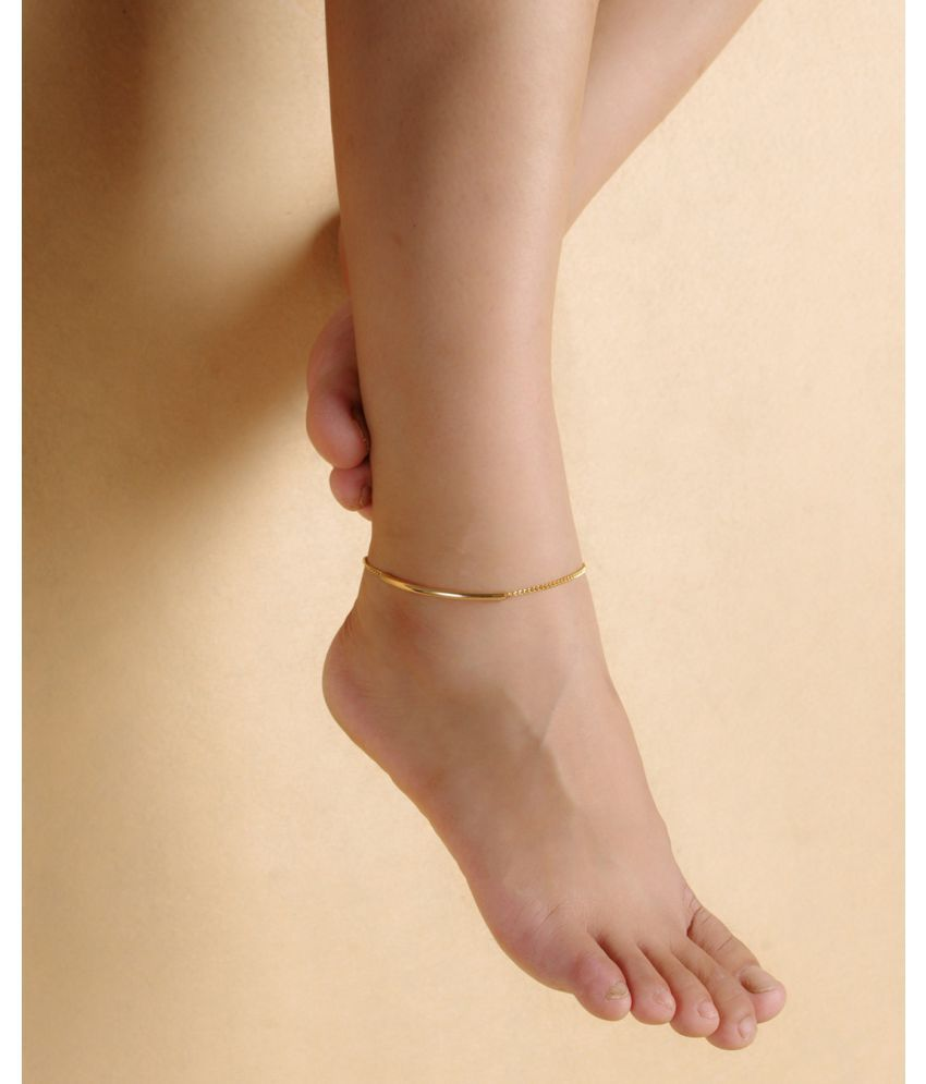 Ornaments Are Simple Easy Build Fashion Beach Foot Chain Metal Smooth Curved Pipe Simple Foot Chain Jl042
