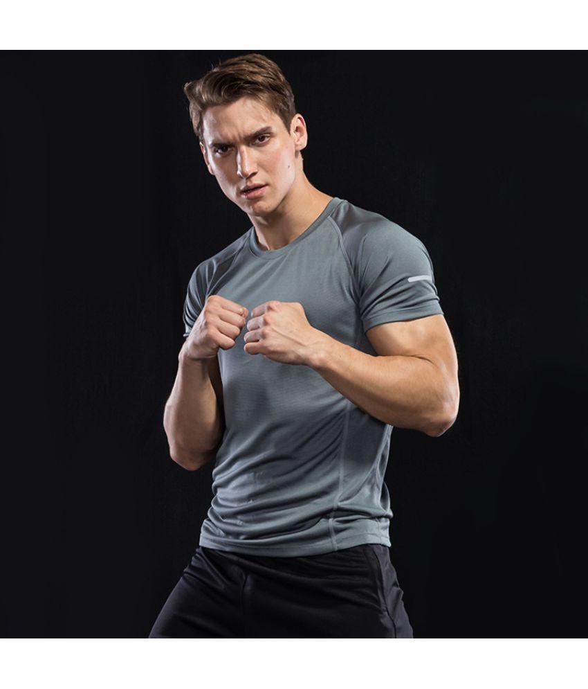 Haorun Grey Half Sleeve T-Shirt