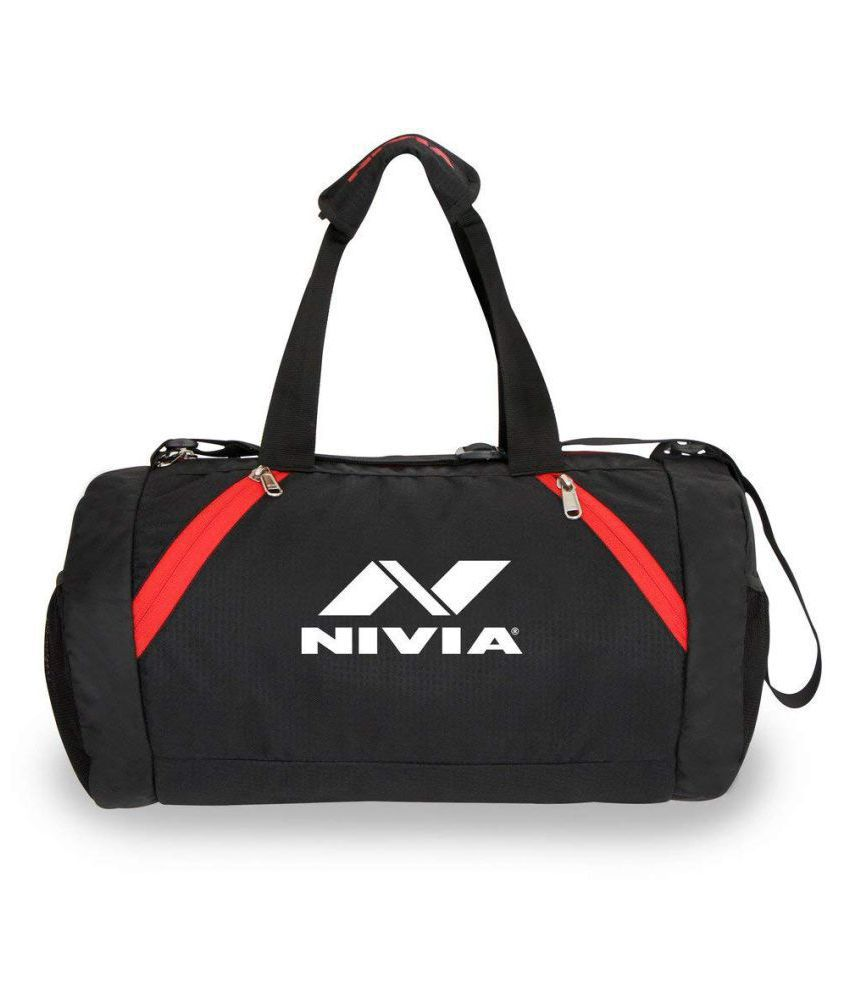 Nivia Medium Polyester Gym Bag Travel Duffle