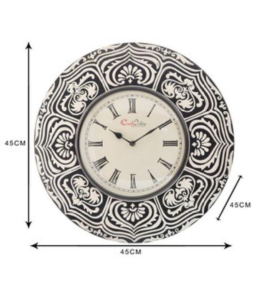 Indian Handicraft Circular Analog Wall Clock ( 45 x 45 cms )