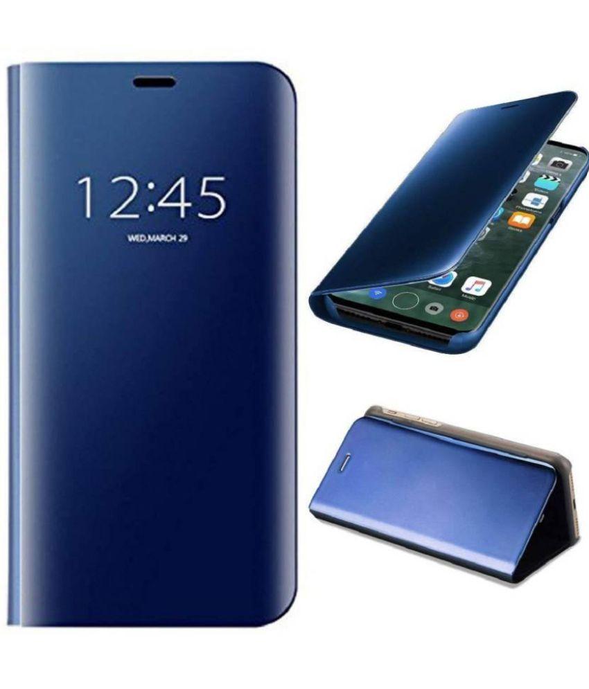 big sale 8c599 c7c17 Xiaomi Redmi Note 5 Pro Flip Cover by PHONETASTIC - Blue Semi Transparent  Clear View Mirror Stand Flip