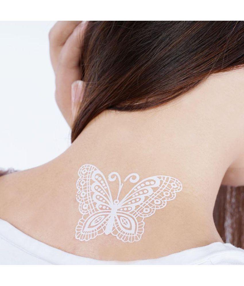White Henna Tattoos Body Art Mandala Lace Temporary Tattoo