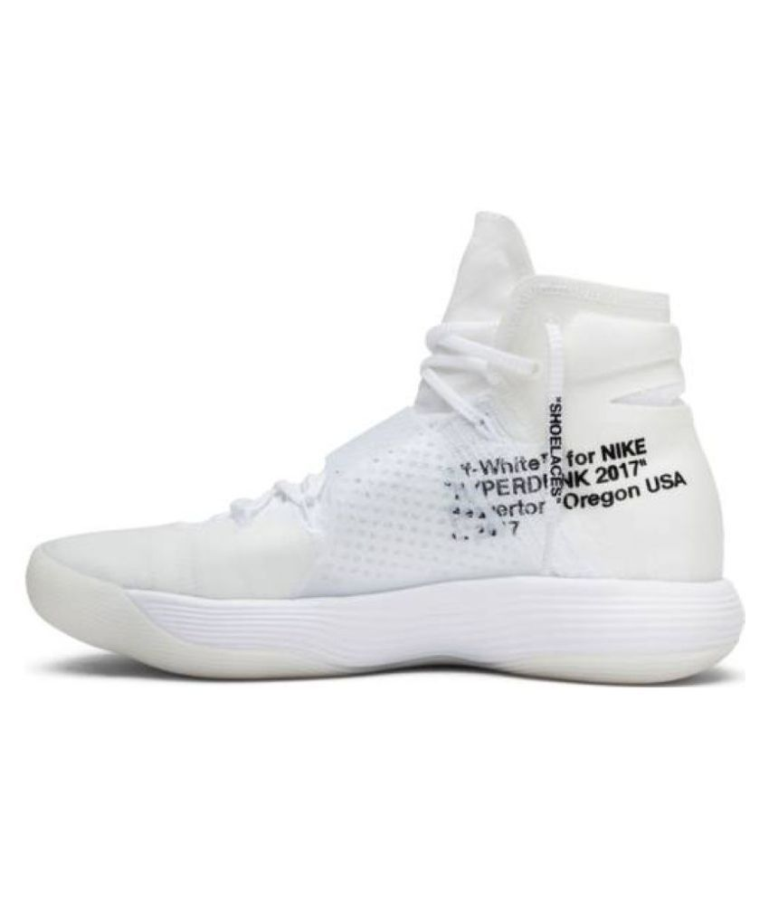 311e2dad7789a Nike React Hyperdunk Flyknit Off- White Basketball Shoes - Buy Nike ...