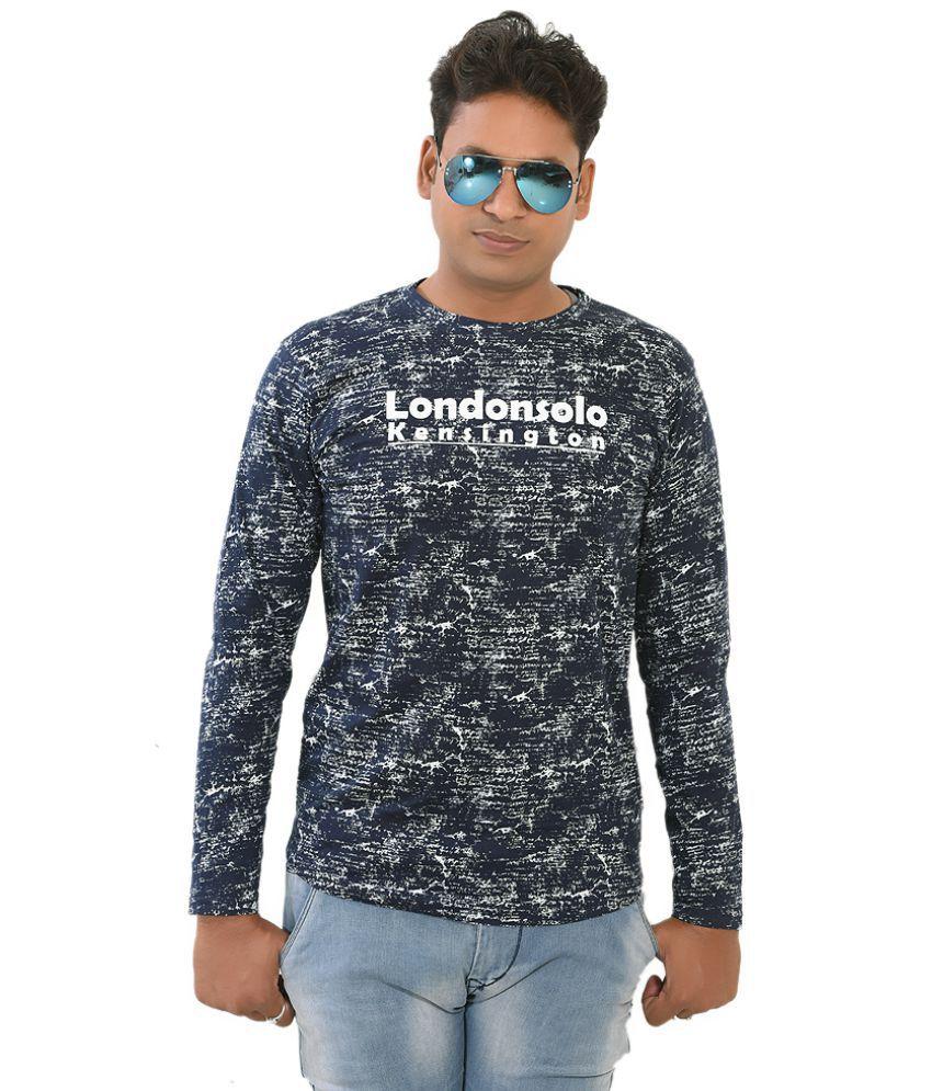 Trendy Duds Blue Full Sleeve T-Shirt