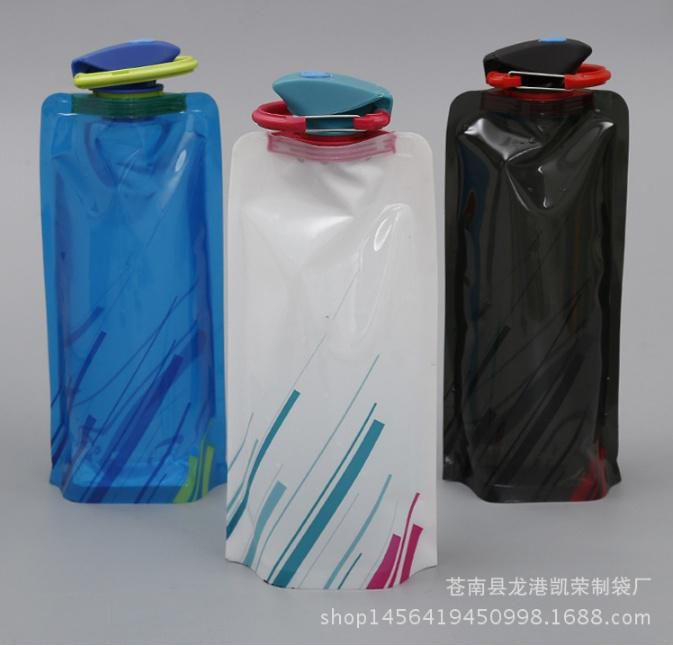 700ML Travel Drink Water Bottle Outdoor Camping Folding Foldable Collapsible