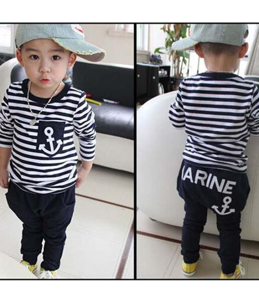 a8ac925fd ... 2PCs Toddler Kids Baby Boy Long sleeve T-shirt Tops+Long Pants Trousers  Outfits ...
