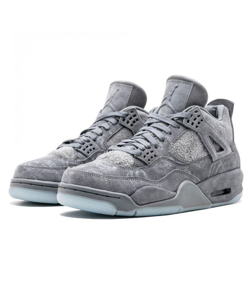 ca4869e0544b13 AIR JORDAN KAWS 4 Gray Basketball Shoes - Buy AIR JORDAN KAWS 4 Gray  Basketball Shoes Online at Best Prices in India on Snapdeal
