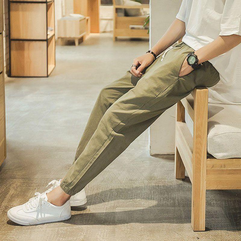 Haorun Green Regular -Fit Flat Trousers