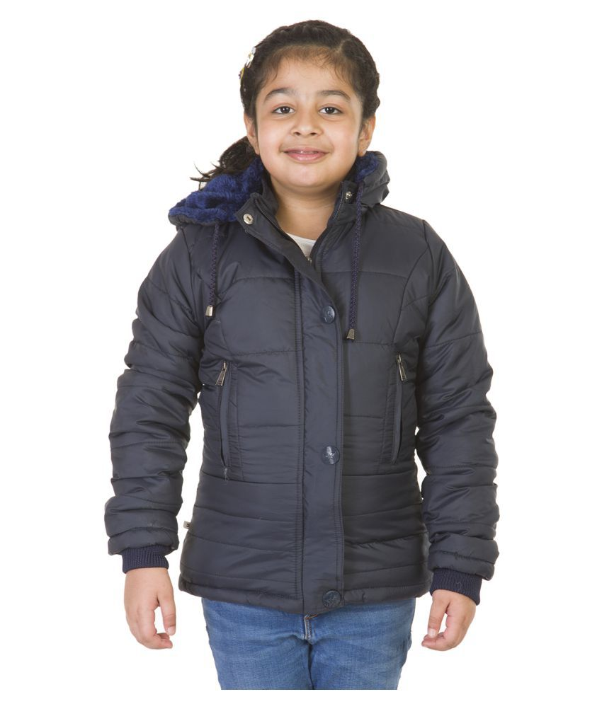BURDY GIRLS SOLID BOMBER JACKET