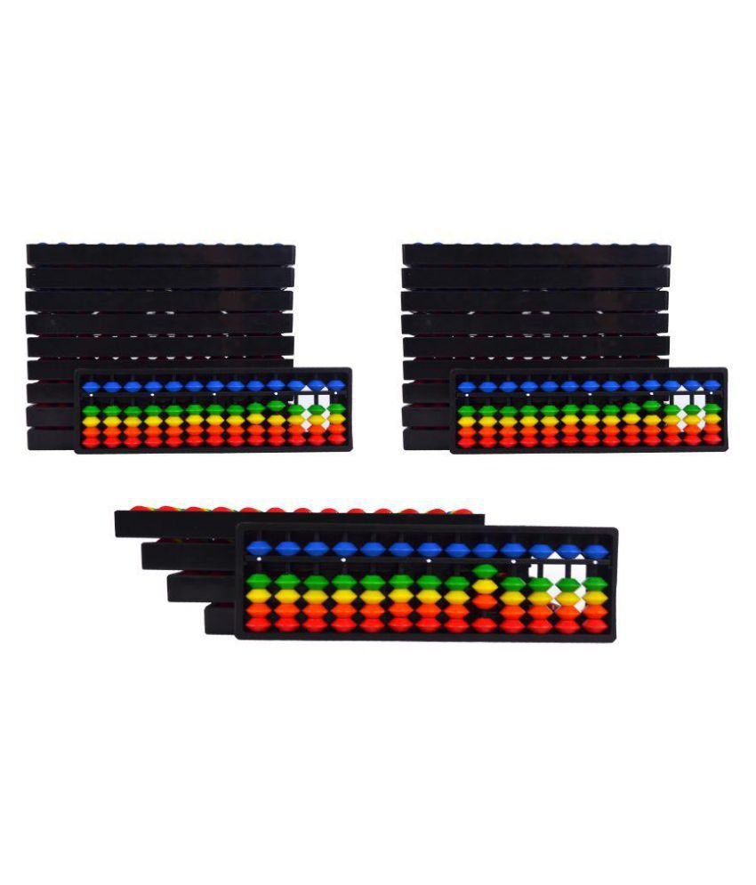 Abacus Math Learning Kit for Kids 13Rod Multicolor - Pack of 25