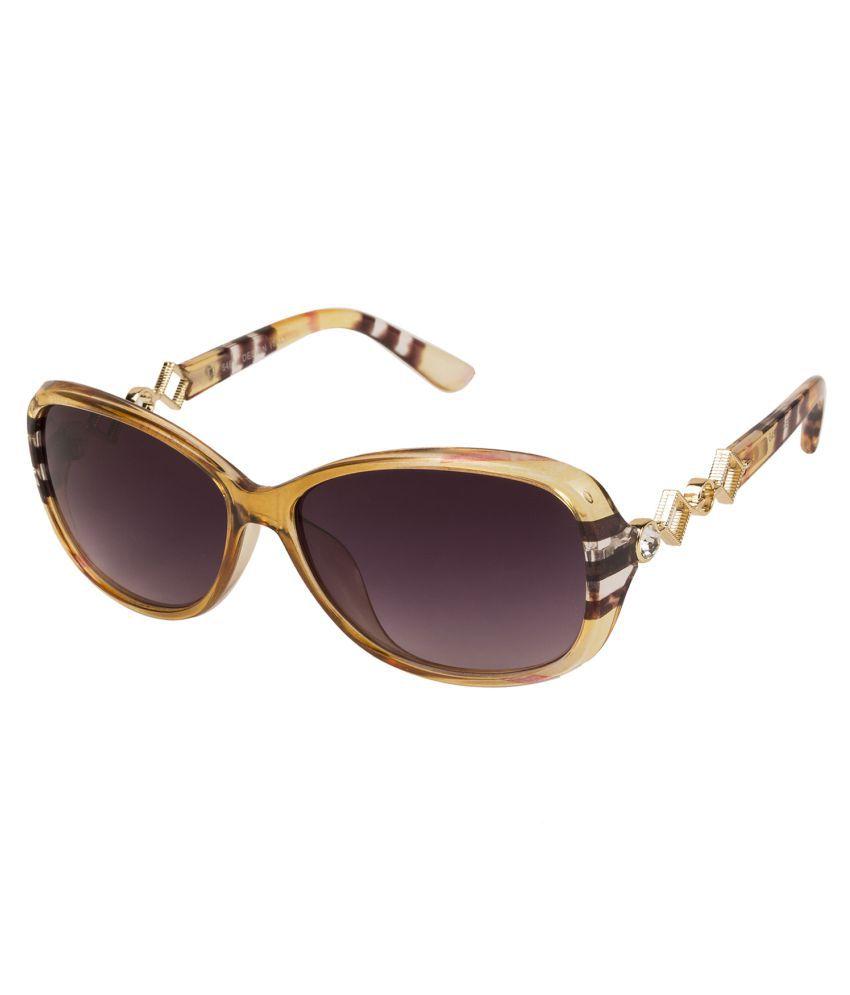LOF Purple Oversized Sunglasses ( V-6125 )