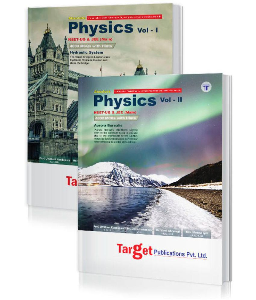 NEET UG / JEE Mains Absolute Physics Books Vol 1 & 2 Combo for 2020 Medical & Engineering Entrance Exam   Chapterwise MCQs with Solutions   Topicwise Tests for Practice   Best Study Material for NEET, AIIMS, AIPMT & JEE Preparation   2 Books