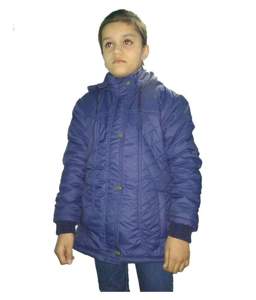 Hudbil Girls Navy  Polyester Jacket