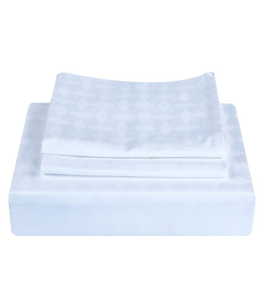 Just Linen Cotton Double Bedsheet with 2 Pillow Covers