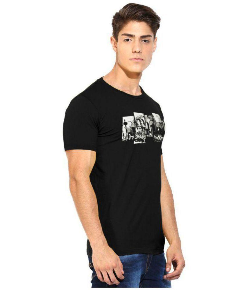 Moonwalker Black Half Sleeve T-Shirt