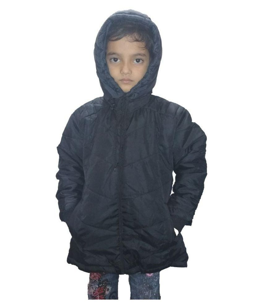 HUDBIL Polyester Girls Winter Jacket
