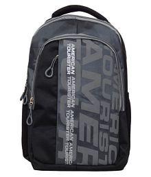 American Tourister Bag Backpack College Bag College Backpack School Backpack School Bag Laptop Bag- Black Grey
