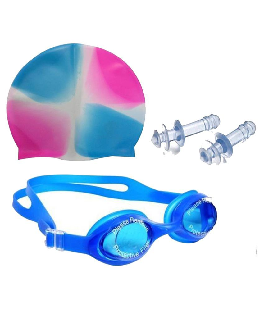 Swimming Kit with Cap,Swimming glasses, nose clip  amp; ear plugs