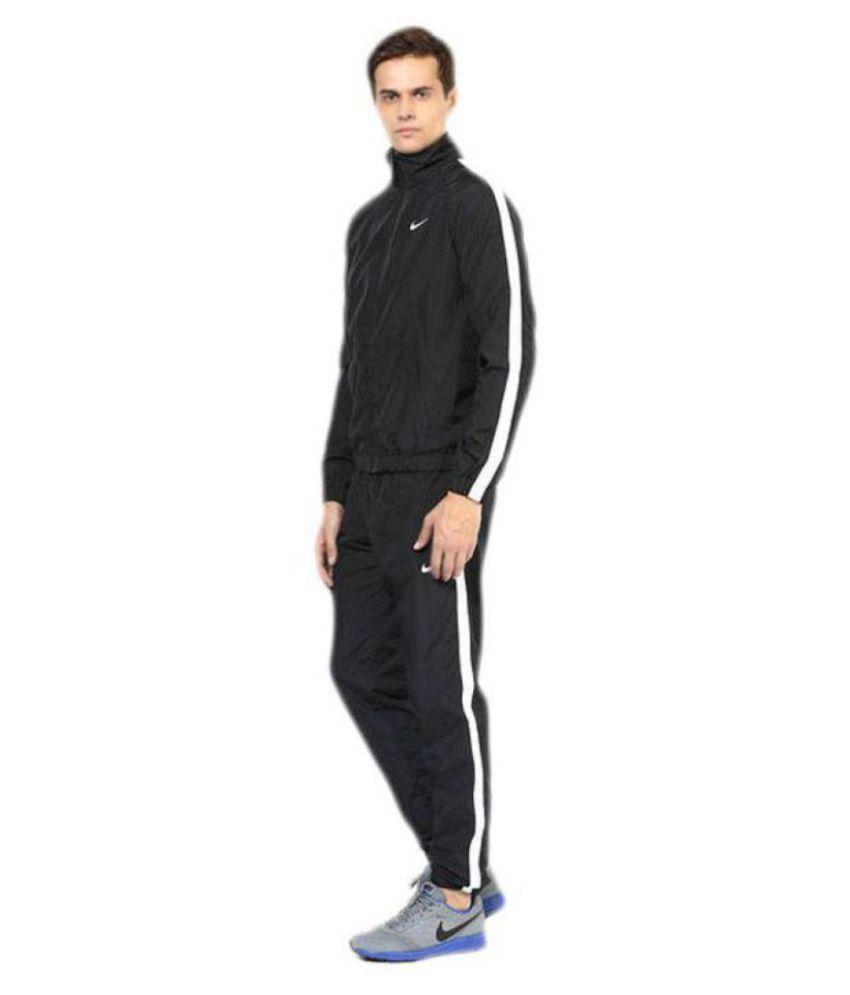 Nike Black Polyester Lycra Tracksuit