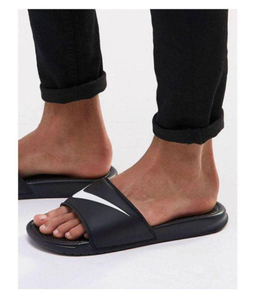df738be023 Nike Black Slide Flip flop Price in India- Buy Nike Black Slide Flip flop  Online at Snapdeal