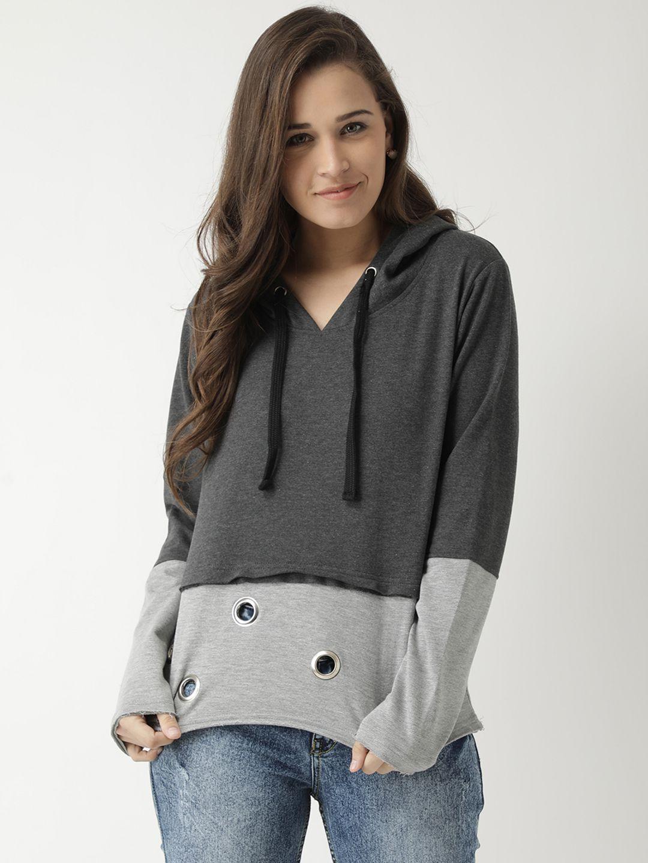 Club York Cotton Grey Hooded Sweatshirt