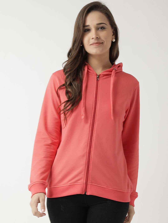 Club York Cotton Pink Hooded Sweatshirt