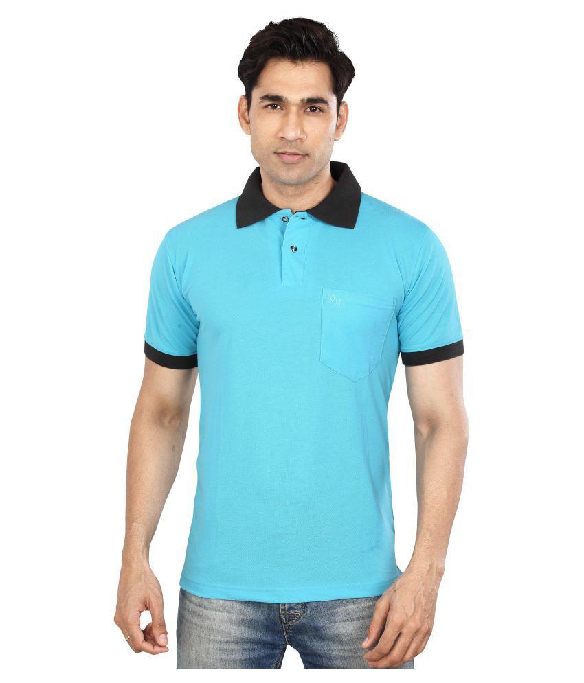 Dudlind Blue Half Sleeve T-Shirt Pack of 1