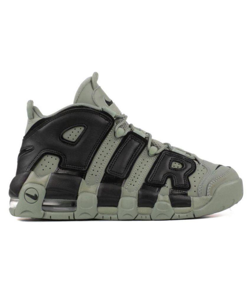 Nike AIR MORE UPTEMPO (GS) MILITARY Gray Basketball Shoes - Buy Nike ... 30d99d3e4fea