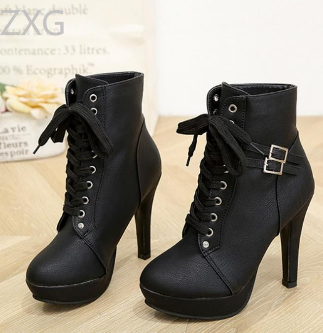 Niti Black Ankle Length Bootie Boots