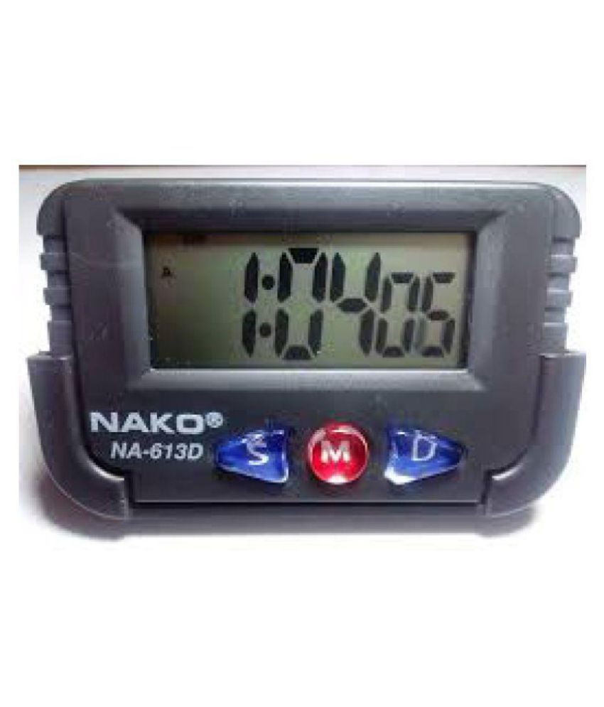 Multipurpose Digital Clock Alarm Stop watch for Car Dashboard Decoration /  Study Table / Office / Home