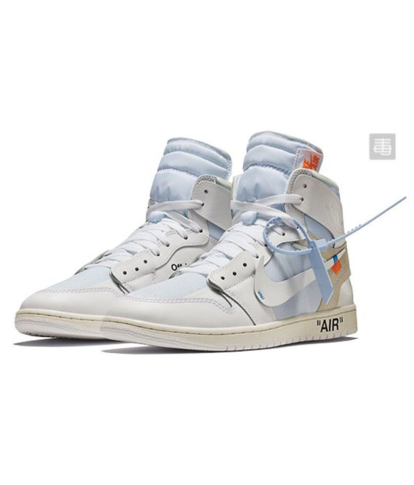 d88755433f8 Nike AJ1 Retro White Basketball Shoes - Buy Nike AJ1 Retro White Basketball  Shoes Online at Best Prices in India on Snapdeal