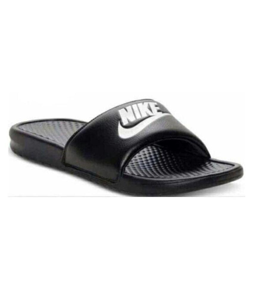 5991916299a8 Nike Black Slide Flip flop Price in India- Buy Nike Black Slide Flip ...