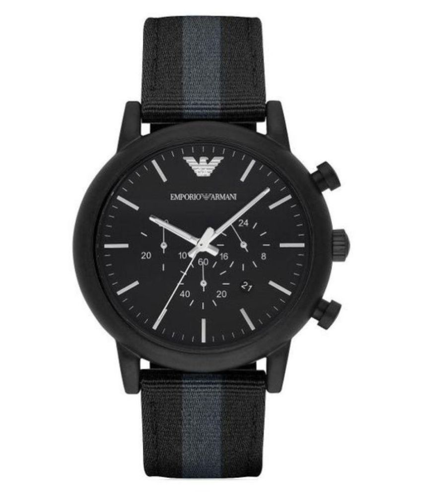 6f7fce687fdb Emporio Armani AR 1948 Nylon Chronograph Men s Watch - Buy Emporio ...