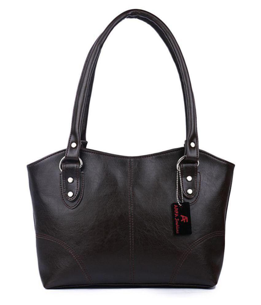 Batterflye Black Faux Leather Shoulder Bag