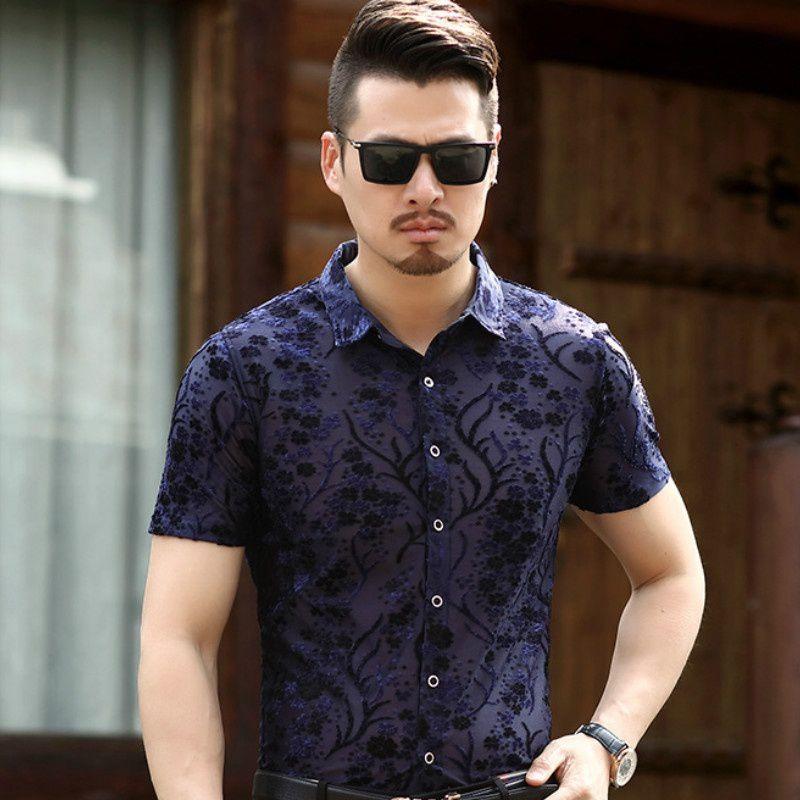 Haorun Blue Half Sleeve T-Shirt