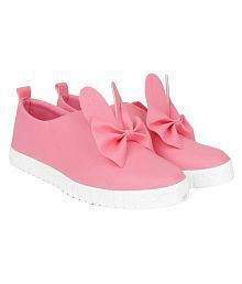 bf7db86013e Quick View. Do Bhai Pink Bow Casual Shoes