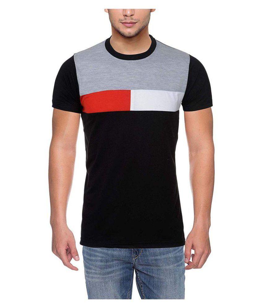 LEFANG Grey Half Sleeve T-Shirt