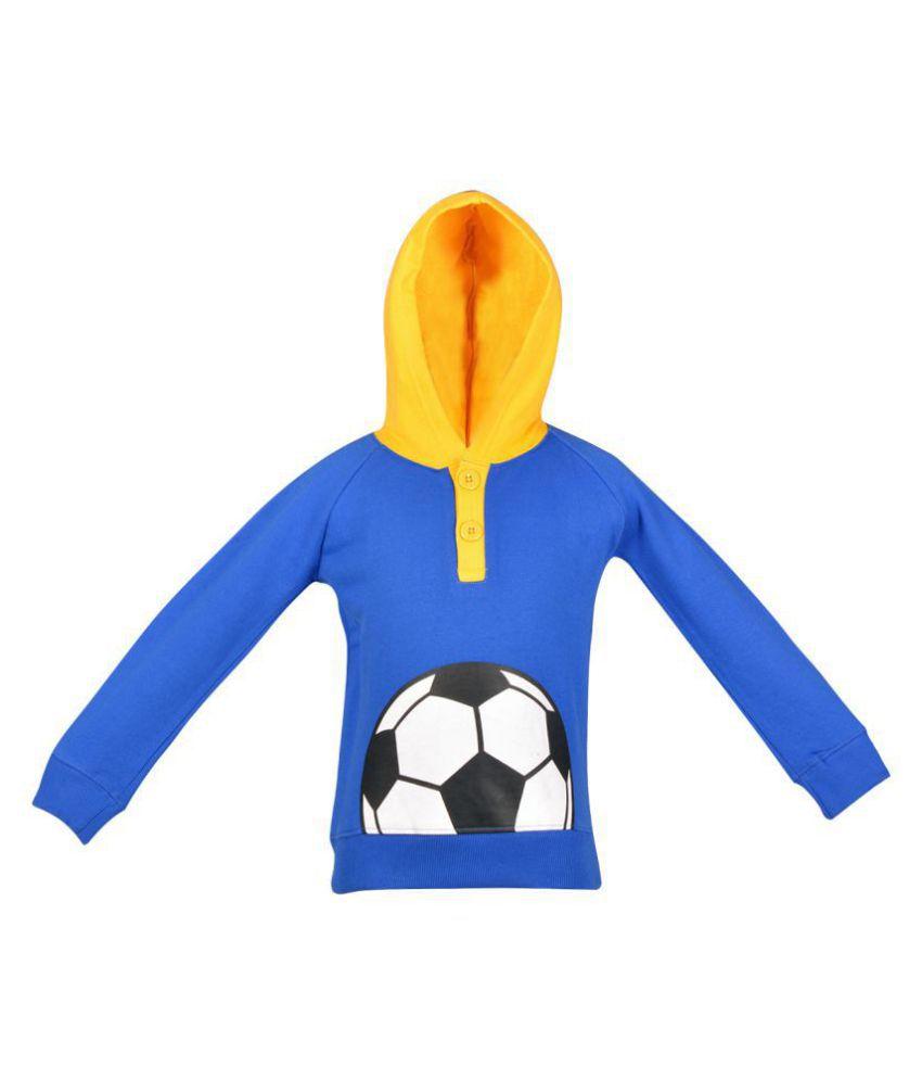 Gkidz Infants Full Sleeve Royal Hooded Sweatshirt