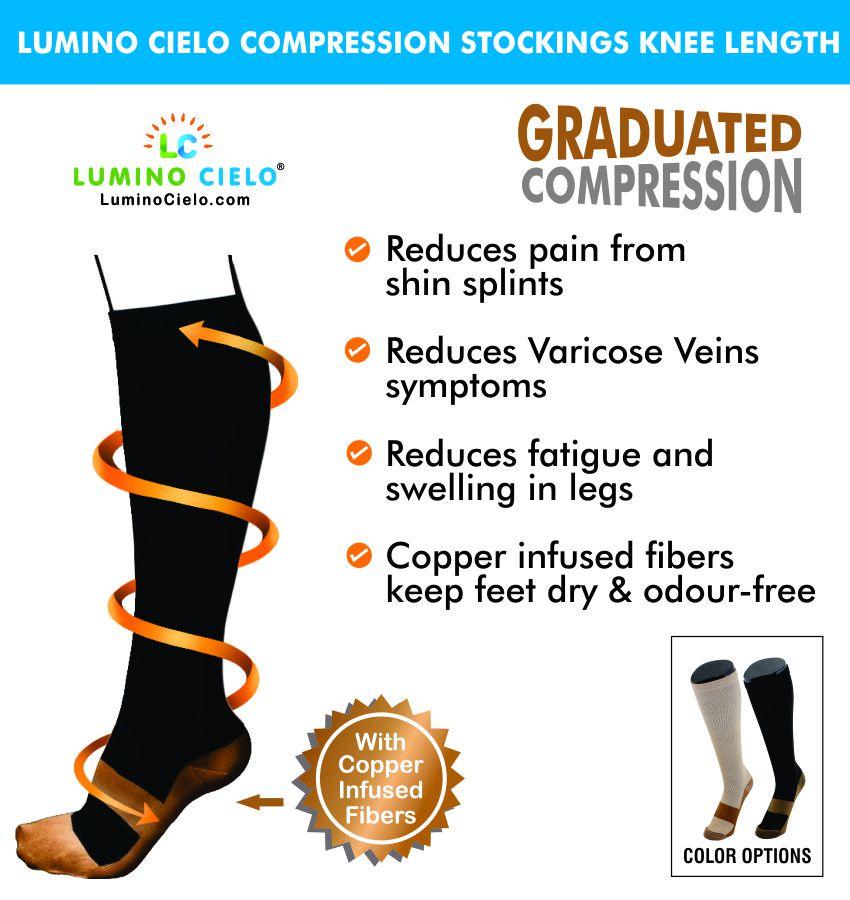 Lumino Cielo Copper Compression Socks Regular